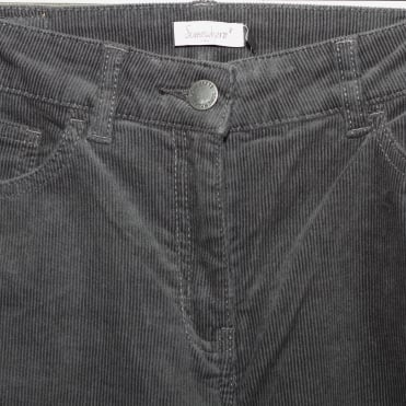 Icard Corduroy Straight Trousers in Slate