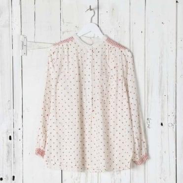 Star Print Cotton Blouse
