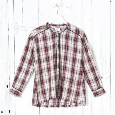 Effy Check Shirt in Red