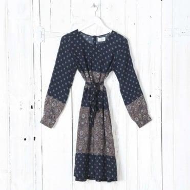 Sofia Short Printed Dress in Sepia