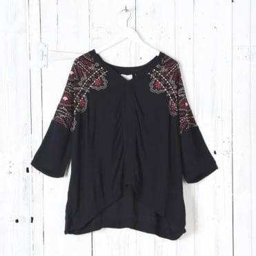 Valentina Embellished Top in Nocturne