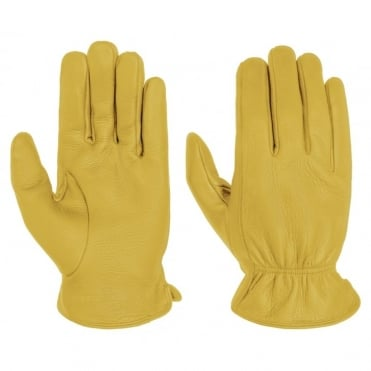 Deer Nappa Gloves in Yellow