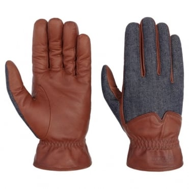 Goat Gloves in Denim/Nappa