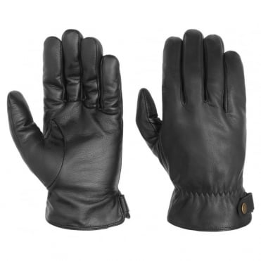 Goat Nappa Conductive Gloves in Black