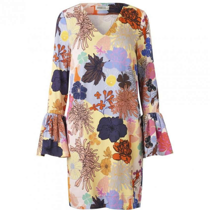 STINE GOYA Rosie Flute Sleeve Dress in Multi