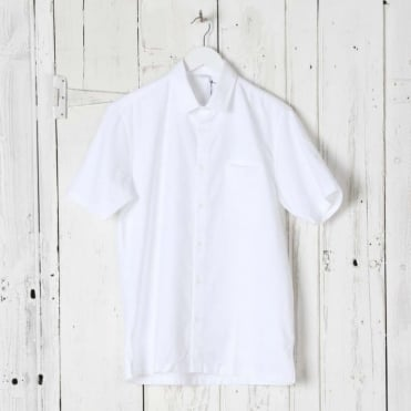 Straight Hem Short Sleeve Shirt
