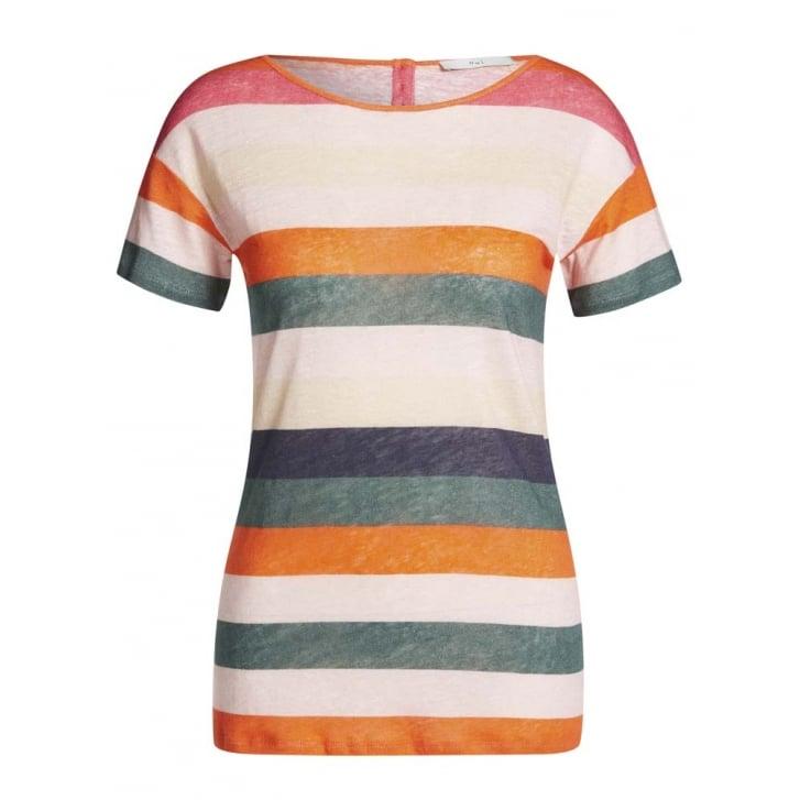 OUI Stripe Linen Top