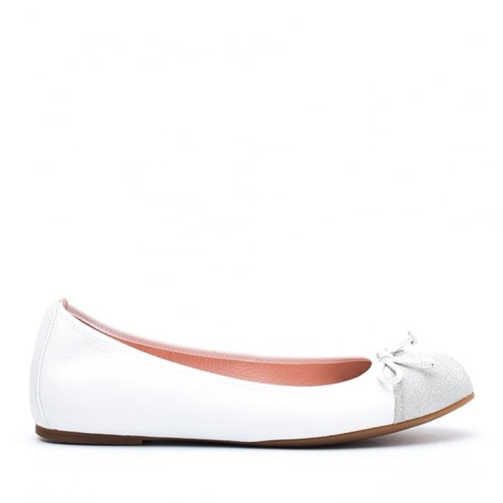 UNISA Suede Ballet Pump w. Sparkle Toe