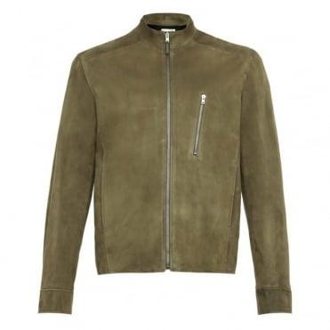 Suede Simple Biker Jacket