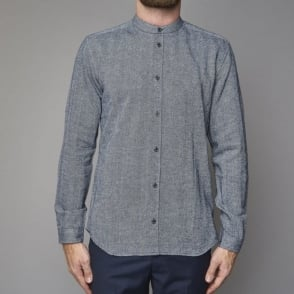 Herringbone Shirt in Blue