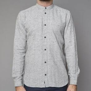 Herringbone Shirt in Dark Grey