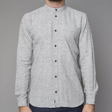 Herringbone Shirt in Dark Grey