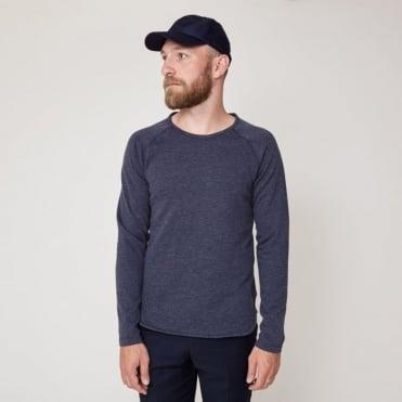 Noah Crew Sweater in Navy Marl