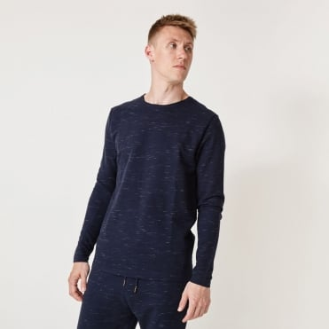 Ohio Space Dyed Fabric Sweat in Navy