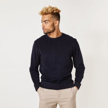 Orson Plush Sweatshirt in Navy
