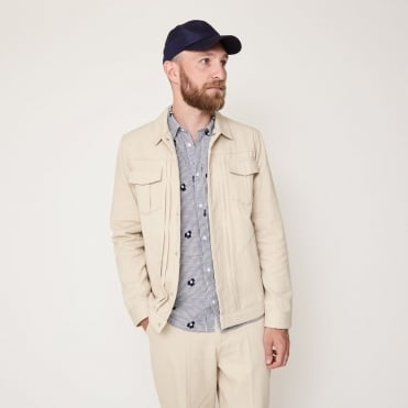 Simon Worker Jacket in Sand