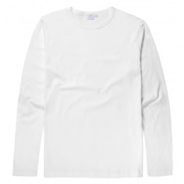 Long Sleeve Crew Neck T-Shirt in White