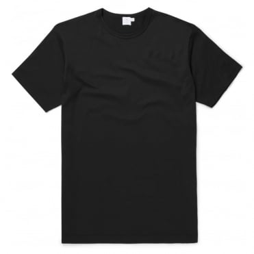 Short Sleeve Crew Neck Top in Black