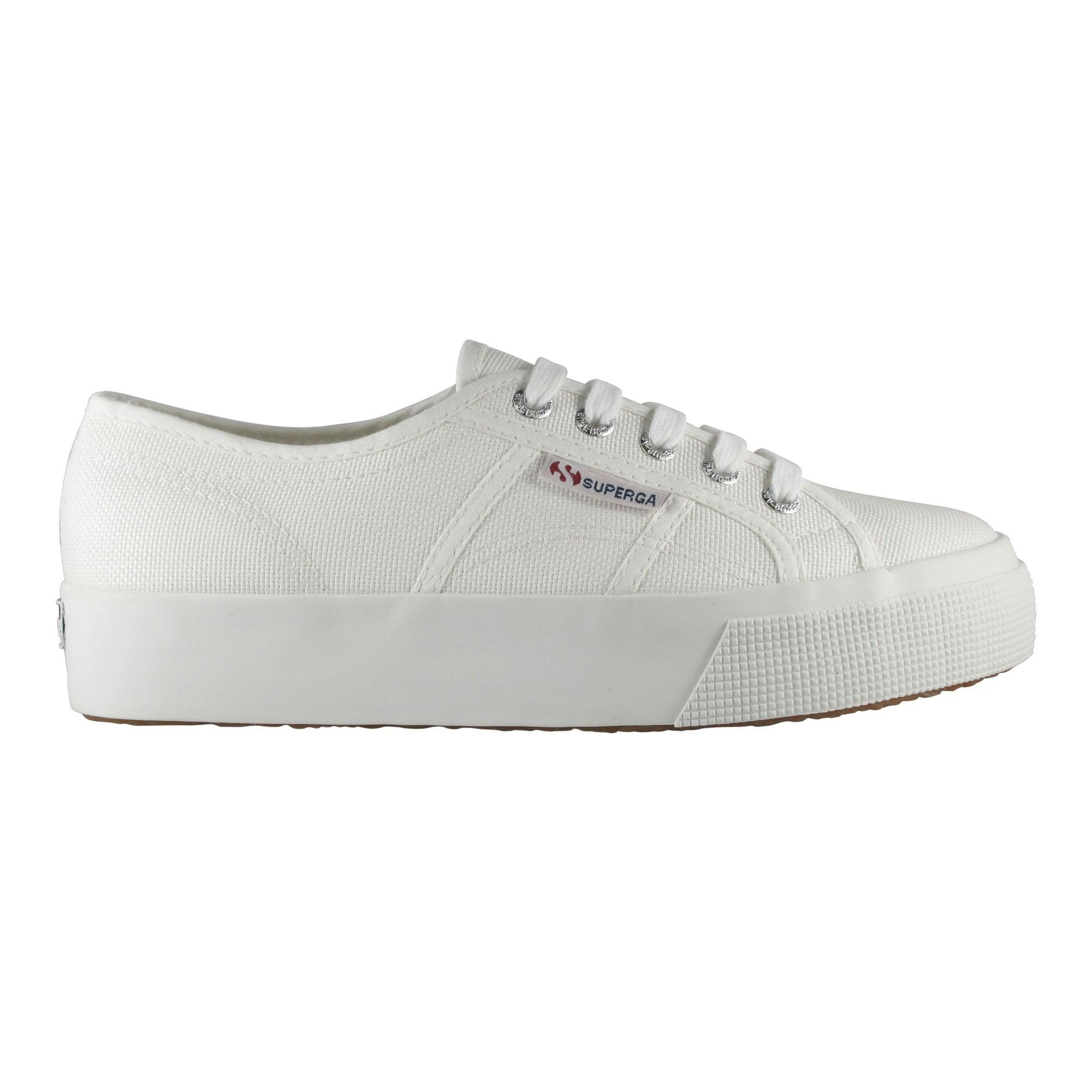 52a2d1476a 2730 Cotu Mid Platform Sneaker in White | Collen & Clare