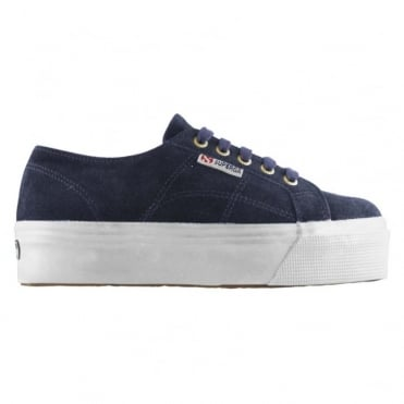 2790 Suew Suede Flatform Sneaker in Blue