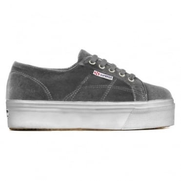 2790 Velvetw Flatform Sneaker in Dark Grey