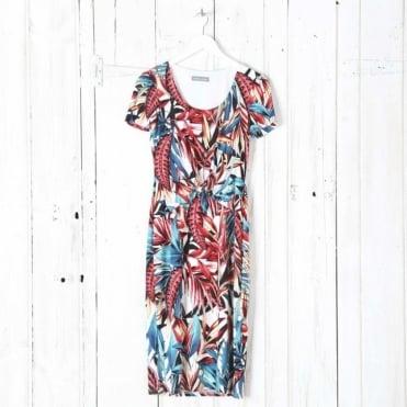 Tie Front Jersey Dress