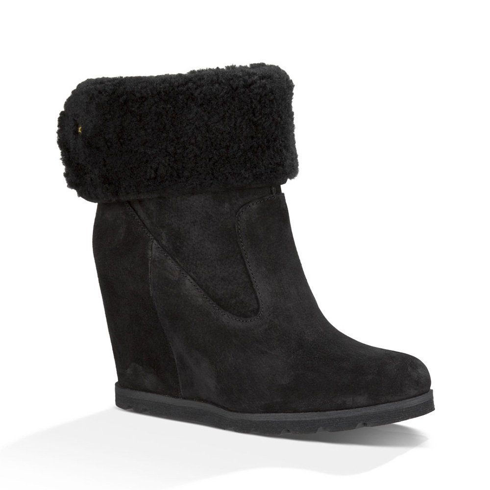 ugg kyra wedge boot in black collen clare