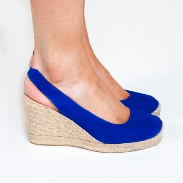 Cubela Slingback Suede Espadrille in Sapphire