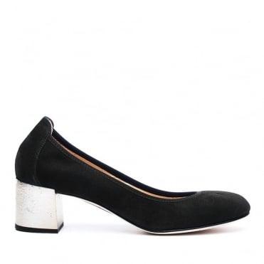 Leather Low Block Heel