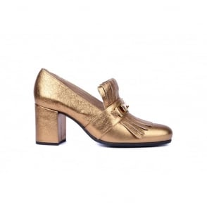 Olimpo Buckle Heel in Goldy