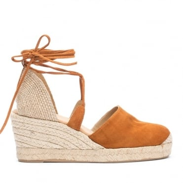 Suede Espadrille Ankle Strap