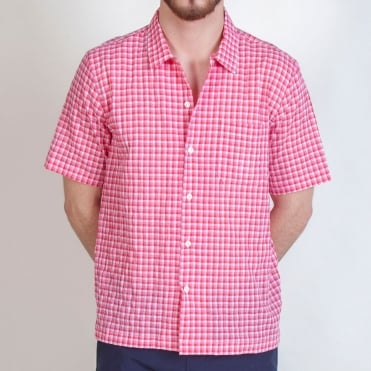 Alex Check Road Shirt in Strawberry