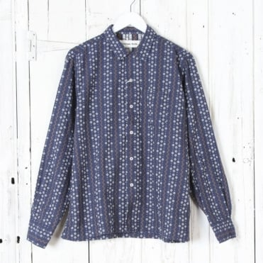 Apache Stripe Garage Shirt in Navy
