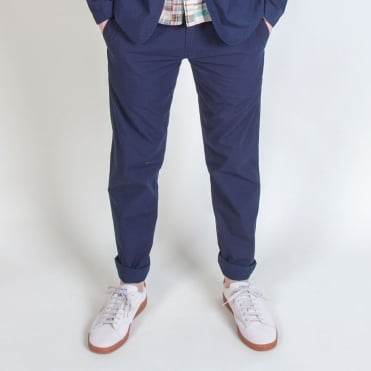 Aston Poplin Pant in Navy