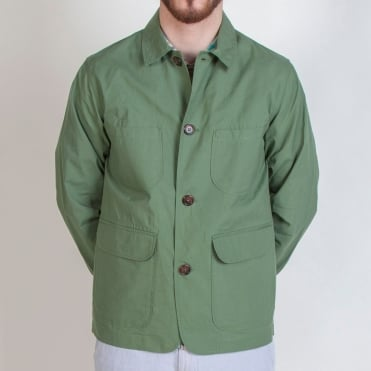 Cotton Labour Jacket in Olive