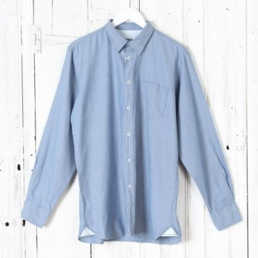 Denim Oxford Shirt in Indigo