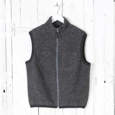 Hope Wool Fleece Gilet in Grey
