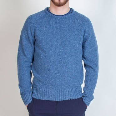 Light Crew Jumper in Indigo