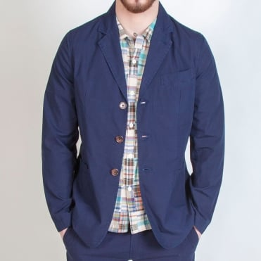 London Poplin Jacket in Navy