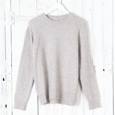 Loose Fisherman Lambswool Jumper in Aran