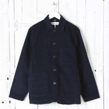 Moleskin Bakers Jacket in Navy