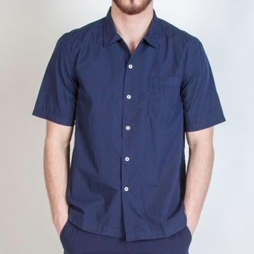 Poplin Road Shirt in Navy