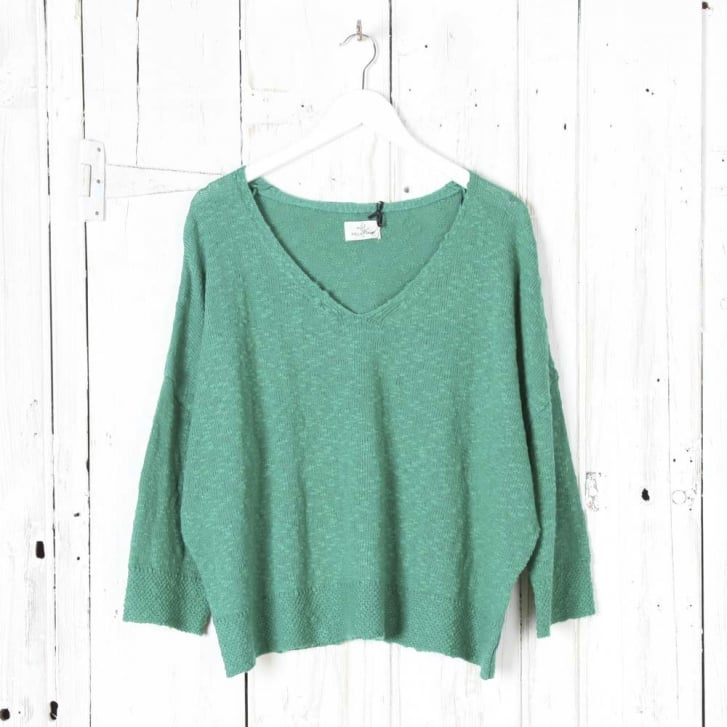 STELLA FOREST V Neck Large Slub Knit
