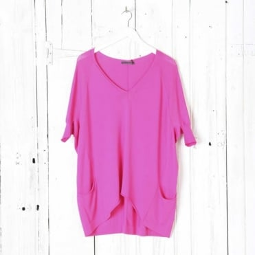V Neck Square Cut Jumper