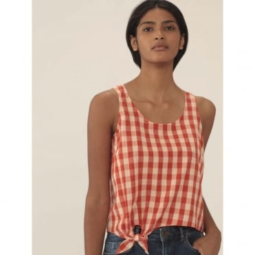 Vichy Check Knot Top