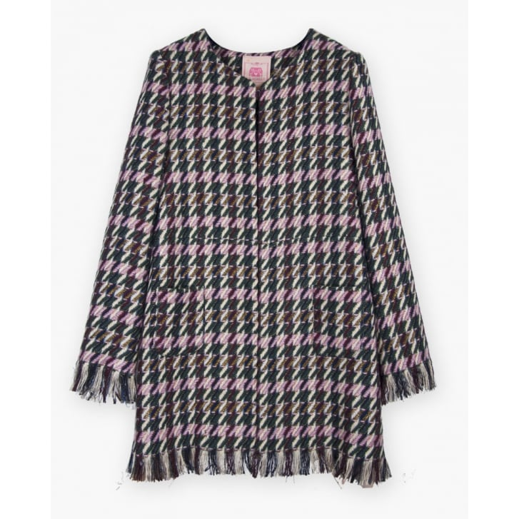 VILAGALLO Anna Tweed Rough Edge Coat in Artusi Tweed