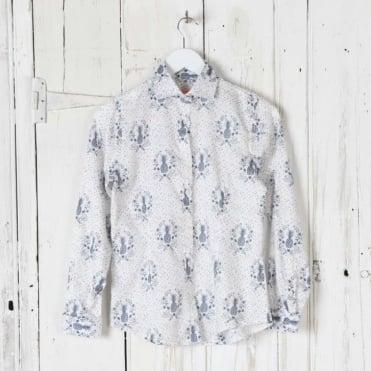 Cotton Pineapple Print Shirt