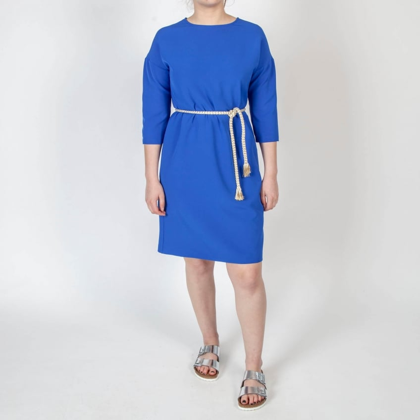 VILAGALLO Elenora Fluro Dress in Blue