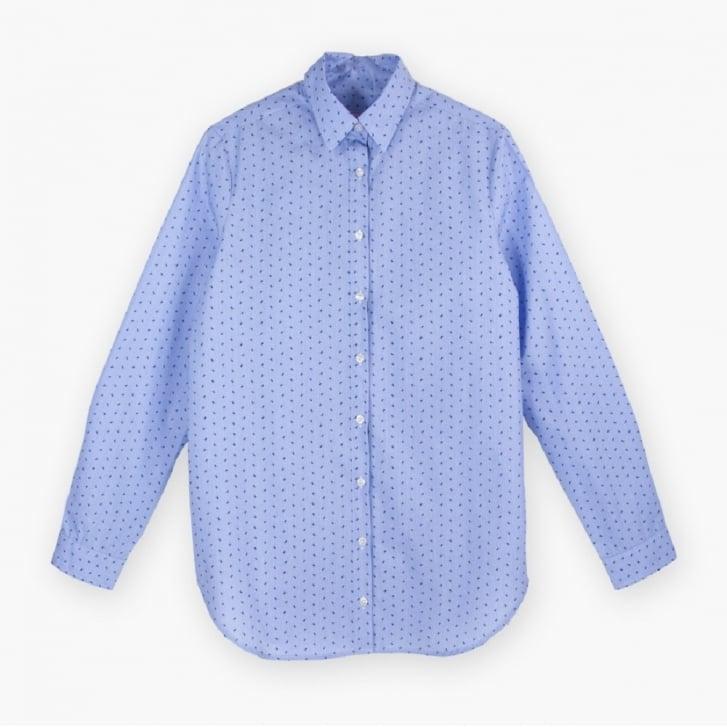 VILAGALLO Tasha Tiny Bug Shirt in Blue