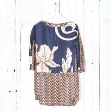 Yana Silk Print Dress